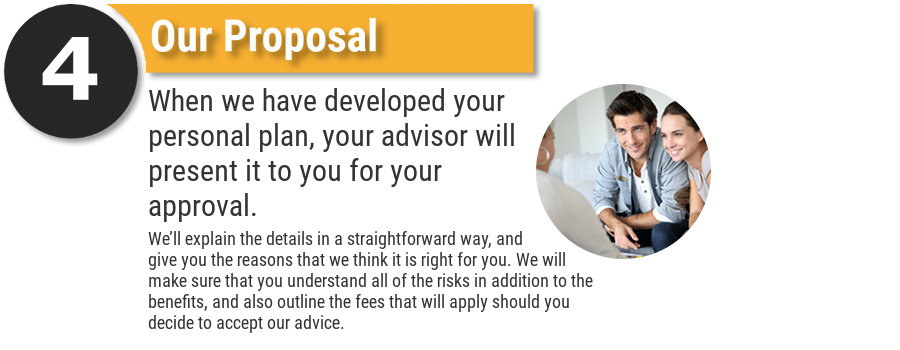We'll make a proposal which we think will best meet your financial needs.